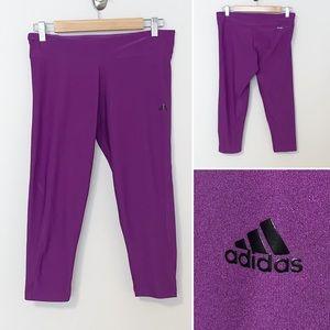 Adidas Purple Crop/Capris Women's Leggings - 12-14